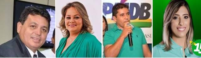 Prefeitos eleitos que serão diplomados hoje: Maurício Caetano, Suely Fonseca, Júnior Marques e Mariana Dias Caetano(DEM)
