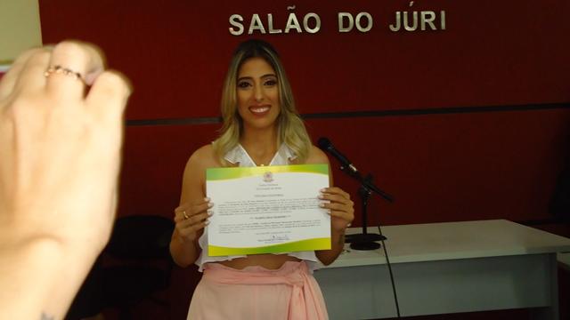 Marina Dias diplomada pela Justiça Eleitoral