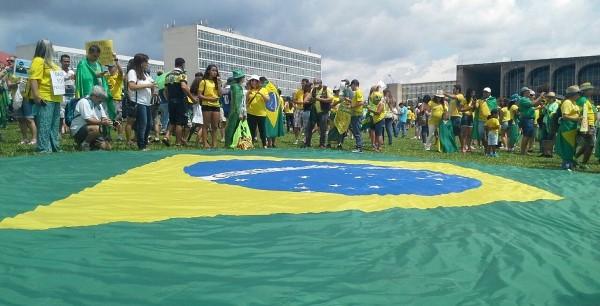 Manifestação em Brasília, 4 de dezembro (Foto:Joelma Pereira)