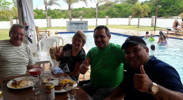 Robson Roseane, vereador Gilberto e vice-prefeito Holderlin
