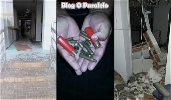 A ação criminosa na agência do BB de Campestre (Fotos via grupo O parapelo)