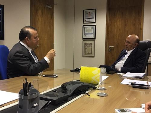 Deputado Rogério Marinho recebido pelo Ministro Meirelles