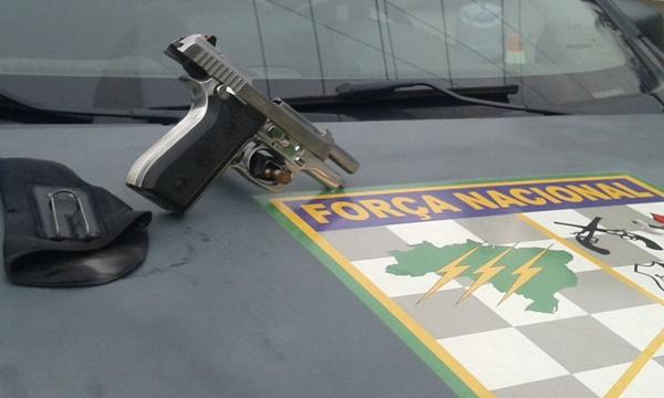 Arma apreendida pela Força Nacional