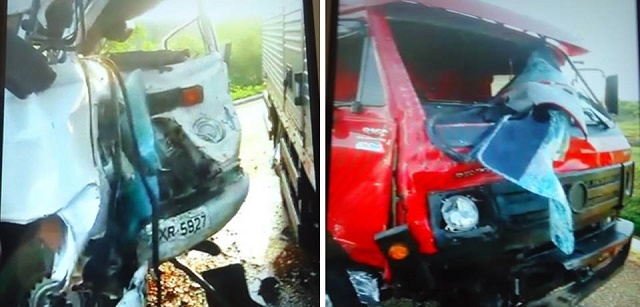 Veículos envolvidos no acidente