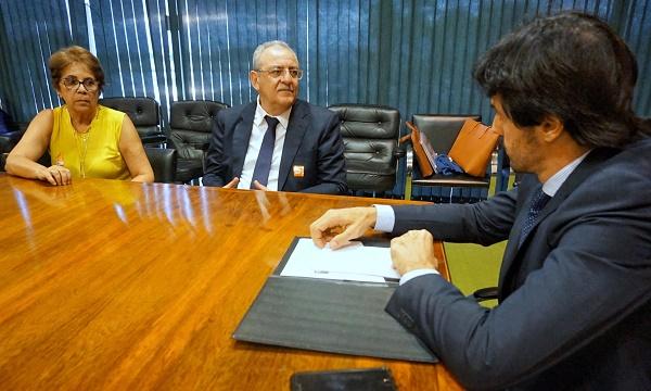 Reunião do deputado Fábio Faria com o Secretário de Saúde do Estado