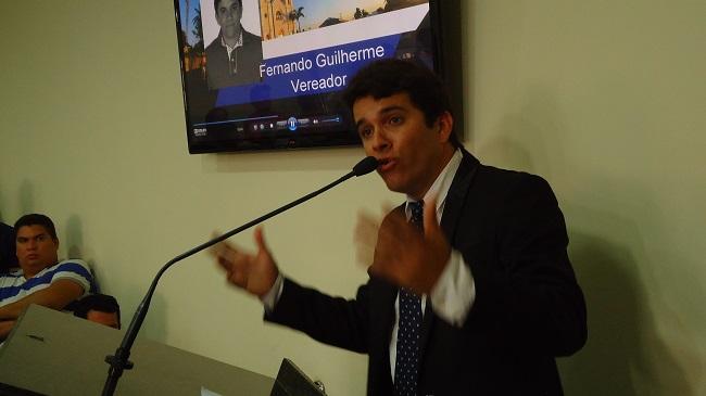 Vereador Fernando Guilherme, líderdo prefeito na CÂmara