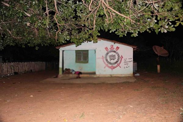 Casa onde ocorreu a chacina