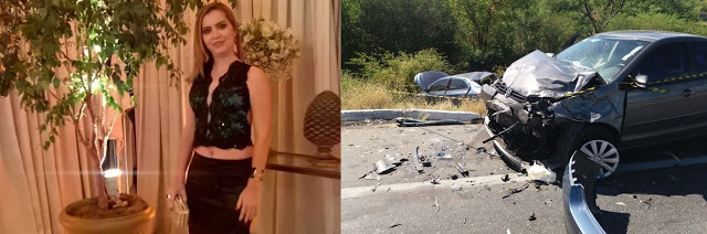 Vítima ficou presa as ferragens do veículo