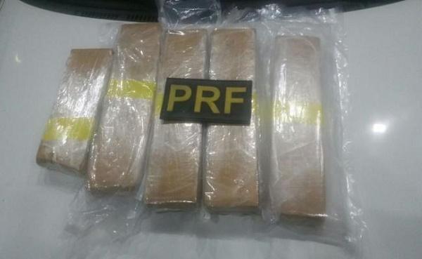Droga apreendida pela PRF (Foto: PRF/Divulgação)