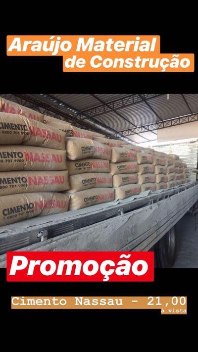 Resultado de imagem para Promoção de cimento Nassau em Araújo Material de Construção