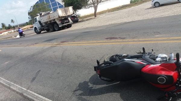 Resultado de imagem para Acidente com moto na BR 406 em João Câmara próximo ao ginásio João Lucas