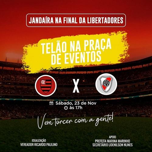 Resultado de imagem para Ricardo Paulino disponibilizará telão na Praça de Eventos em Jandaíra pra final da Libertadores