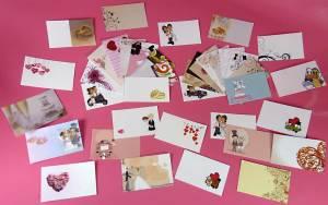 Variedad de tarjetas para regalos de boda