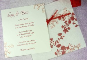 Invitación de Boda Escarlata