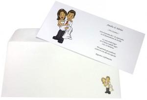 Invitaciones también personalizadas para bodas