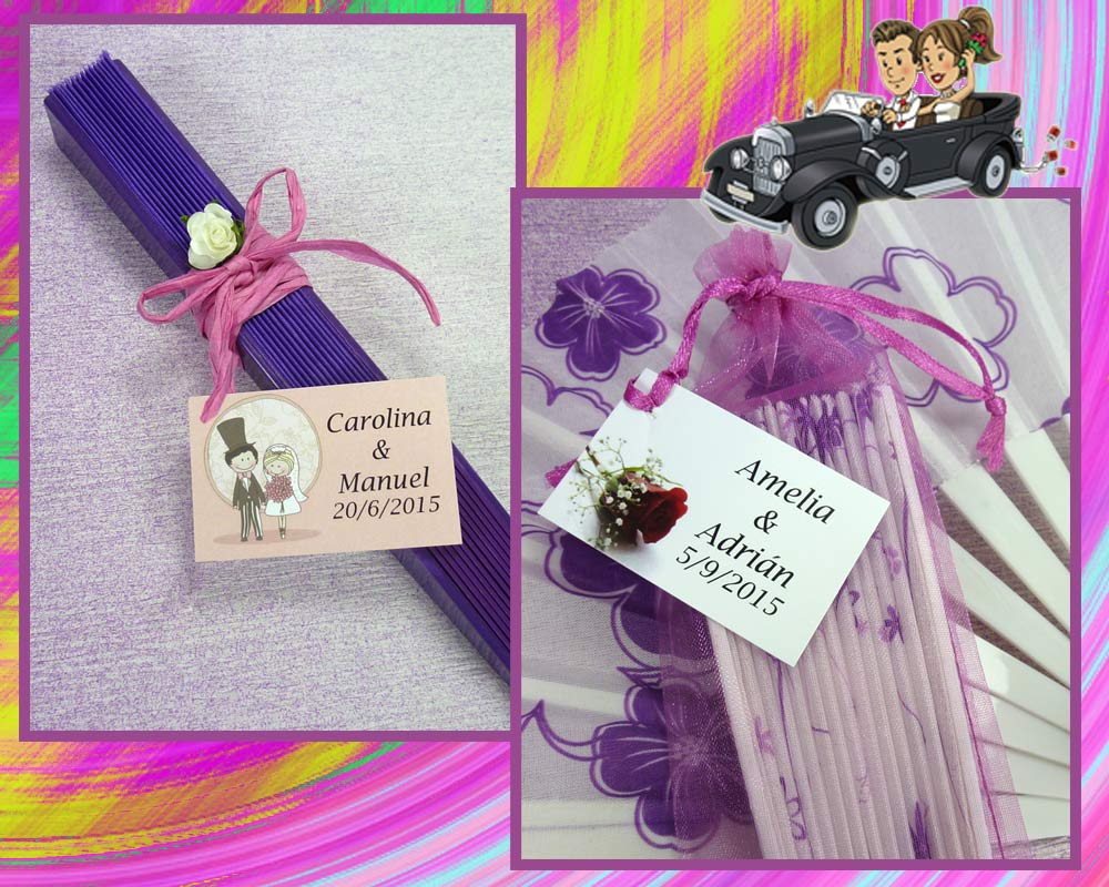 Ideas para decorar los abanicos de la boda