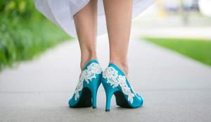 Algo azul: los zapatos de la boda