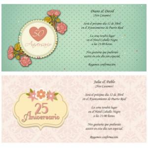 Invitaciones de Aniversario