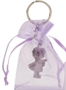 Llavero comunión niña en bolsa organza