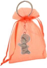 Llavero comunión niño en bolsa organza