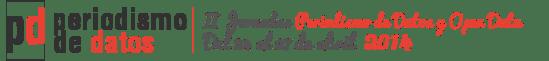 Logotipo de las II Jornadas de Periodismo y Open Data.