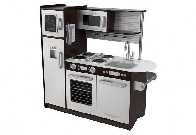 Cozinha de Brinquedo Uptown Espresso Kitchen com Design Inox  Blog de Brinquedo