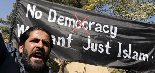 Democracy-We-want-just-Islam-during-a-demonstration-in-Kabul