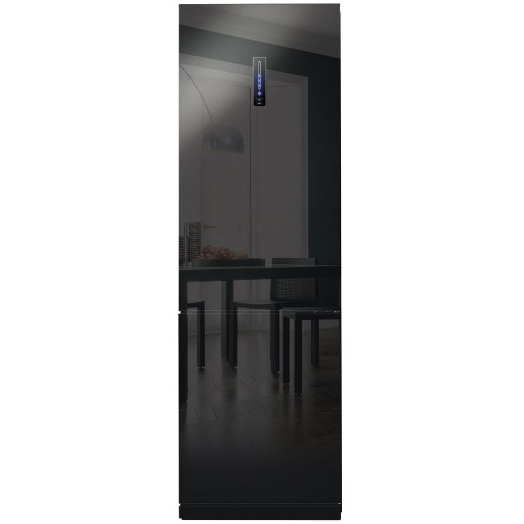 Combina frigorifica Daewoo RN-T425NPB, 332 l, Clasa A+, No Frost, H 189.8 cm, Sticla neagra