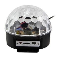Proiector joc de lumini cu difuzor, slot card SD si USB
