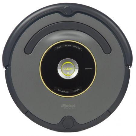 Robot de aspirare iRobot Roomba 651, 1 l, Filtru AeroVac din microfibre, Programare curatare, Perete virtual, Baterie X-Life, Negru/Argintiu