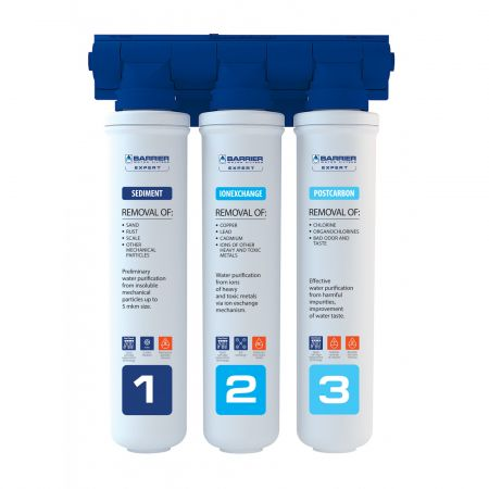 Sistem domestic de filtrare a apei in 3 etape, Barrier Expert Hard, 502-HD