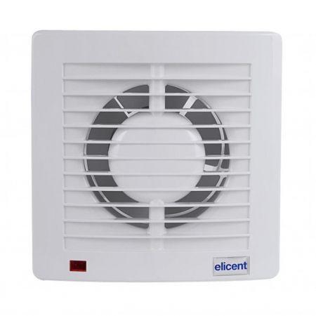 Ventilator casnic ELICENT E-style PRO 150T, Clapeta antiretur, Timer, Fabricatie Italia, Debit 315mc/h