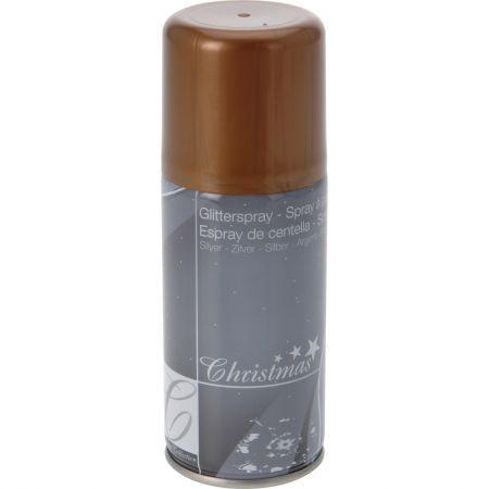 Spray decorativ brad de Craciun, eNoelle, Bronz, 150 ml