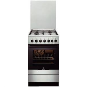 Aragaz mixt Electrolux EKK52550OX, 4 Arzatoare gaz, Cuptor electric, Aprindere integrata, Grill, Clasa A-10%, 50 cm, Inox