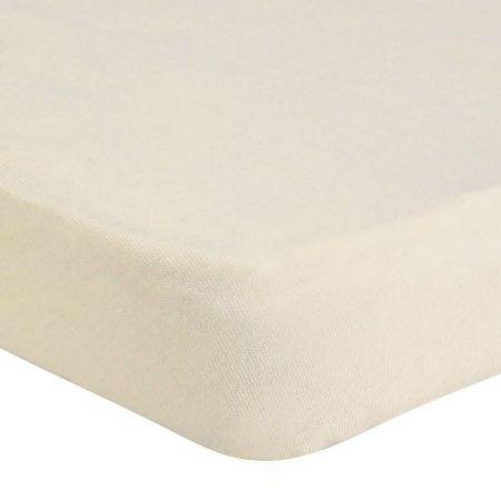 Cearceaf de pat Mendola Bedding Jersey cu elastic, 140x200 cm, Crem