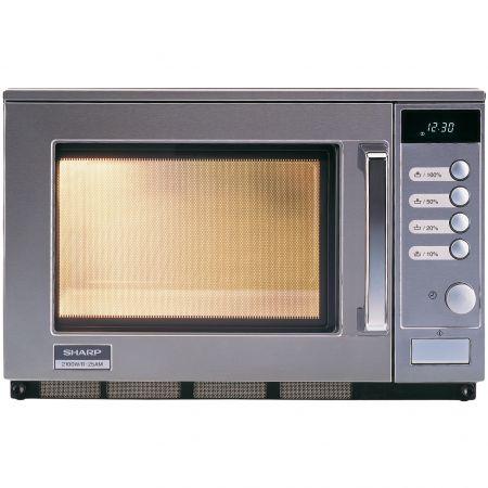 Cuptor cu microunde Sharp R25AM, 20 l, 2100 W, Digital, Inox