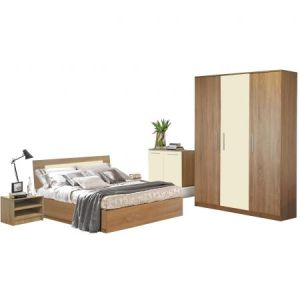 Dormitor Sonoma Stejar Bardolino Crem 140