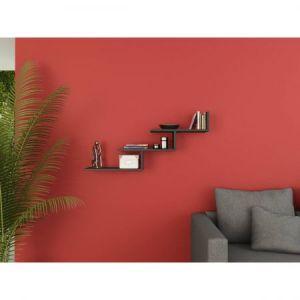 Raft de perete Shelfie, 50 x 15 x 20 cm, Negru