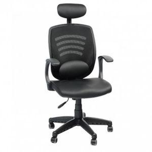Scaun de birou ergonomic Kring WiFi, cu suport lombar si tetiera, Negru