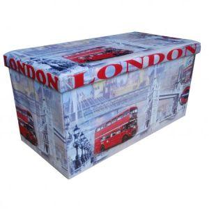 Taburet Unic Spot Design, 76.5x38 cm, cu spatiu depozitare, London