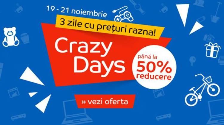 Crazy Days la eMag pentru cei care nu au cumpărat nimic de Black Friday