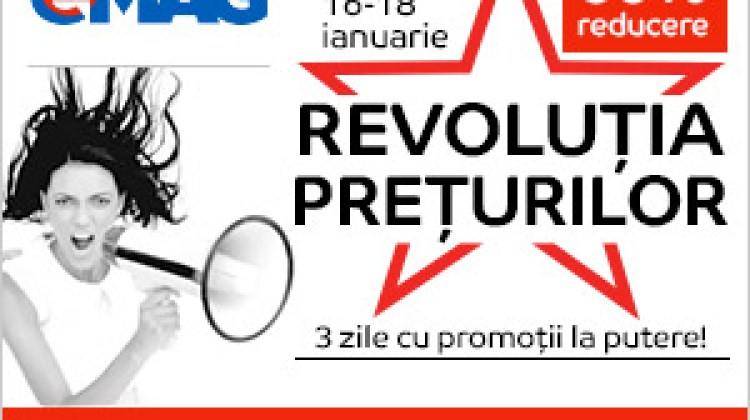 Revoluția Prețurilor 2018 eMag, primul mare eveniment de reduceri