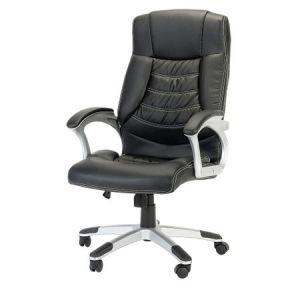 Scaun de birou ergonomic, Kring Bokai, Piele ecologica, Negru