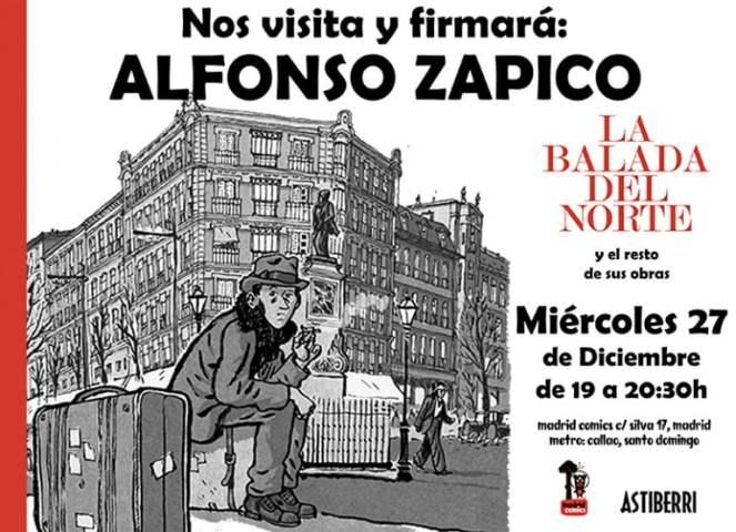 firma alfonso zapico madrid comics