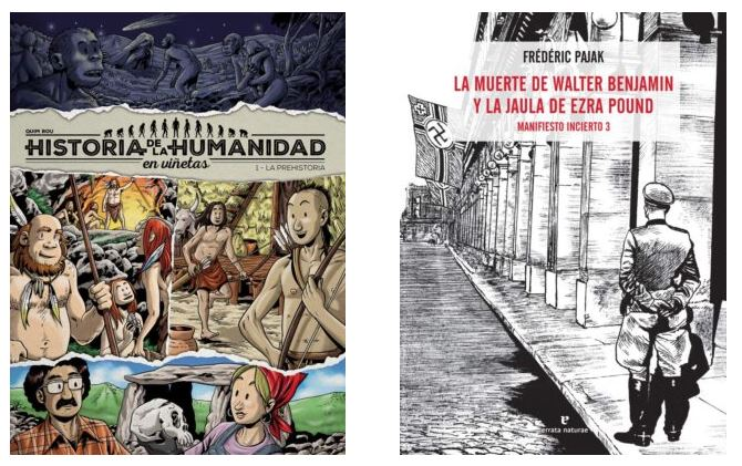 Acuse de recibo: «Historia de la Humanidad en viñetas» y «La muerte de Walter Benjamin y la Jaula de Ezra Pound. Manifiesto incierto 3»