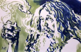 Alan Moore by Gene Ha