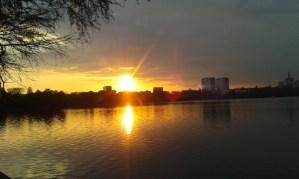 Sunset lake. 2jpg