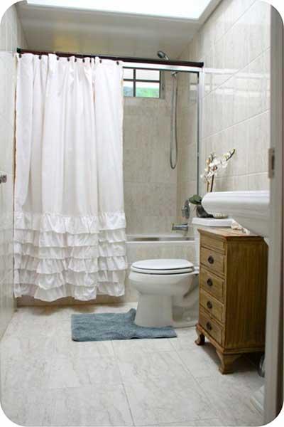 30 Cortinas para Banheiro Diferentes Fotos Modelos Dicas