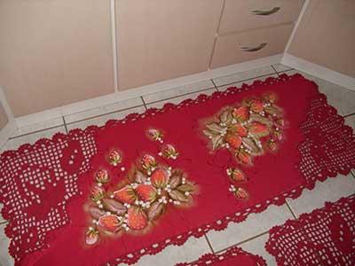Modelos de Tapetes Emborrachados para Sala Cozinha Casa