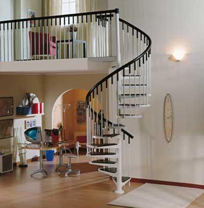 20 Modelos de Escadas Caracol de Madeira Ferro Ao